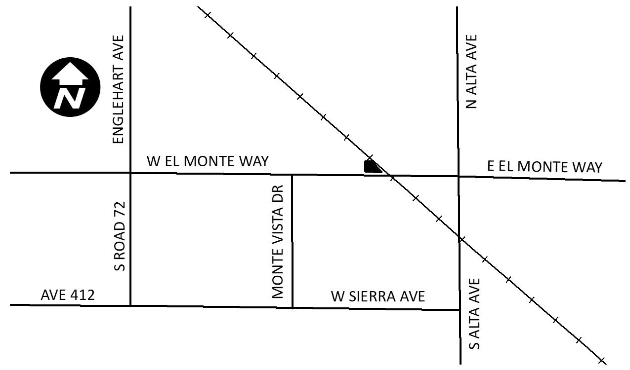 Dinuba Fill Station Map